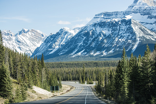 Road to Jasper National Park