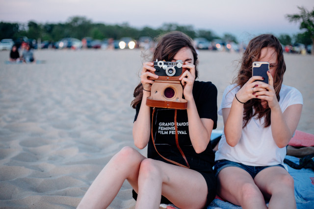 Girls Taking Photos